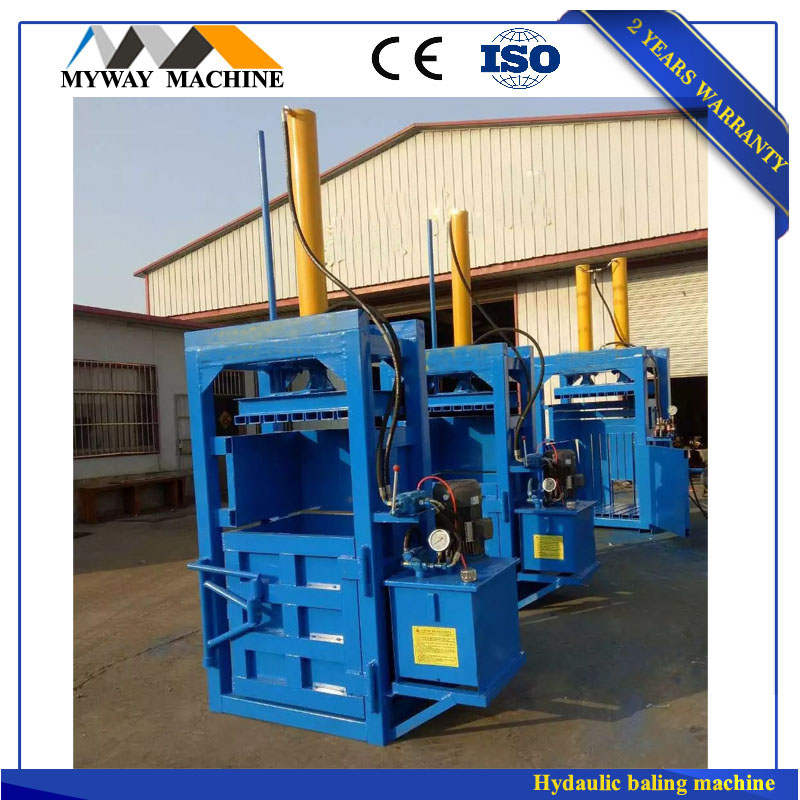 Hydraulic vertical straw bale press machine/straw baling press machine