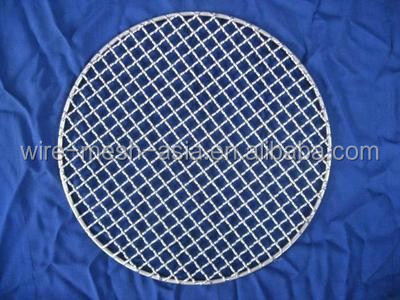 High Quality Stainless 304 Round Wire Mesh Barbecue Netting (factory)(sx-10639)