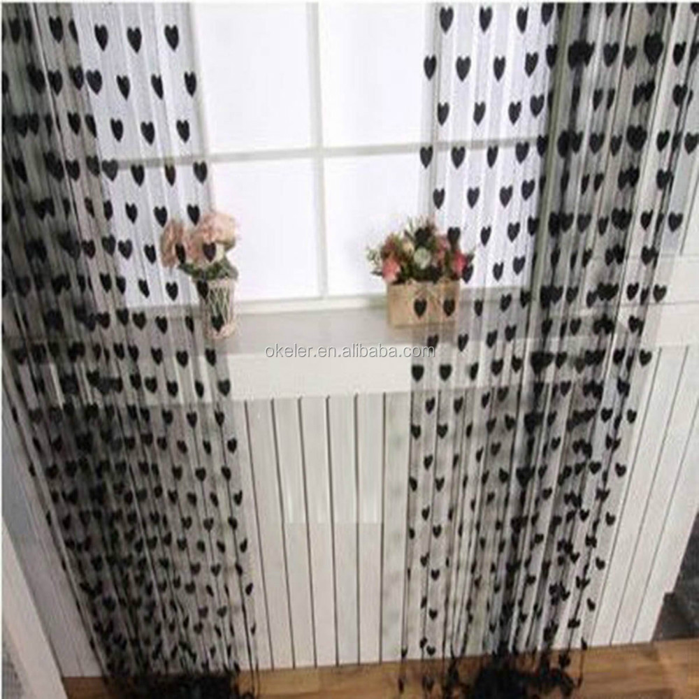 Hot Sale Romantic Love Heart Pattern Tassel String Dressing Room Curtain