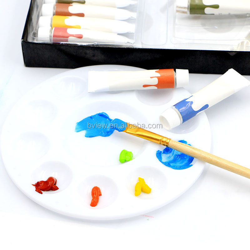 24 pcs pack acrylic color paint Kit with brushes palette