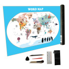 Wholesale Scratch off World Map With Gold Foil Adventure Travelling Customized Paper Printing Scratch Global Map
