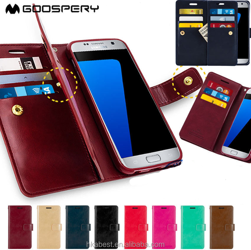 For Samsung Galaxy S7 S7 Edge Case S6 S5 Original Mercury Goospery Mansoor Wallet Leather Cover