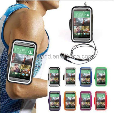 Soft gym jogging running sports armband belt case pouch for HTC One M7 M8 M9