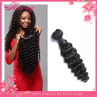 2016 Most Popular Style Human Deep Wave Peruvian Hair Weaves Pictures