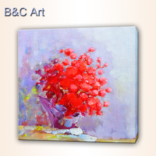 High Quality Beautiful Impressionism Bright Flower Oil Painting for Sale