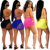 2019 Women Summer Beach Sparkly Sequin Two Piece Outfits Sexy Mesh See Through Bra Top Bikini + Shorts Sets Rhinestone Swimwear
