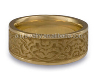 High Quality 18k Gold Plated Moroccan Wedding Ring