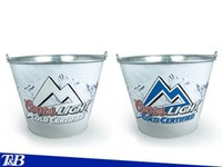 Lastest Changing color logo metal beer bucket
