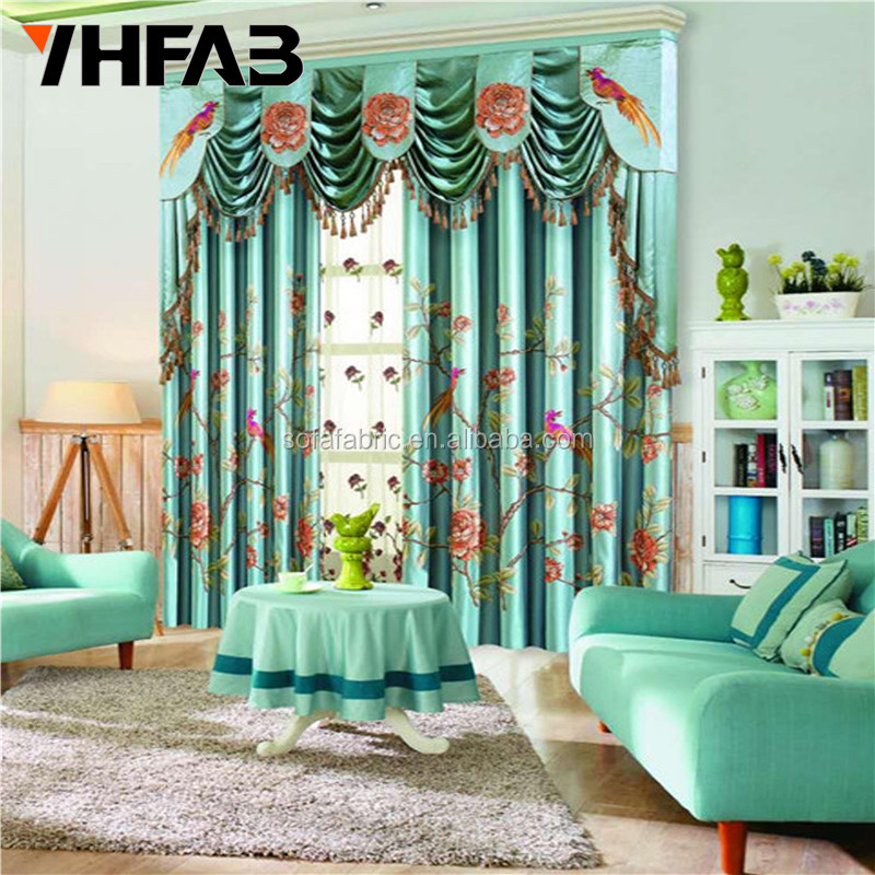 Curtains for the Living Room / Blackout Embroidered Curtains for Hotels/Hospital Curtains