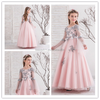 2018 High-end Flower Girls Dresses For Wedding Embroidered Formal Princess Girl Birthday Party Dress Kids Vestido