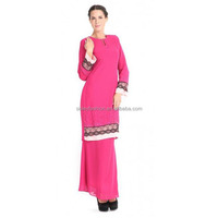 Wholesale fashion baju kurung chiffon beading Abaya maxi dress design muslim abaya