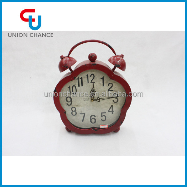 Metal Dark Red Original Double Bubble Antique Standing Clocks