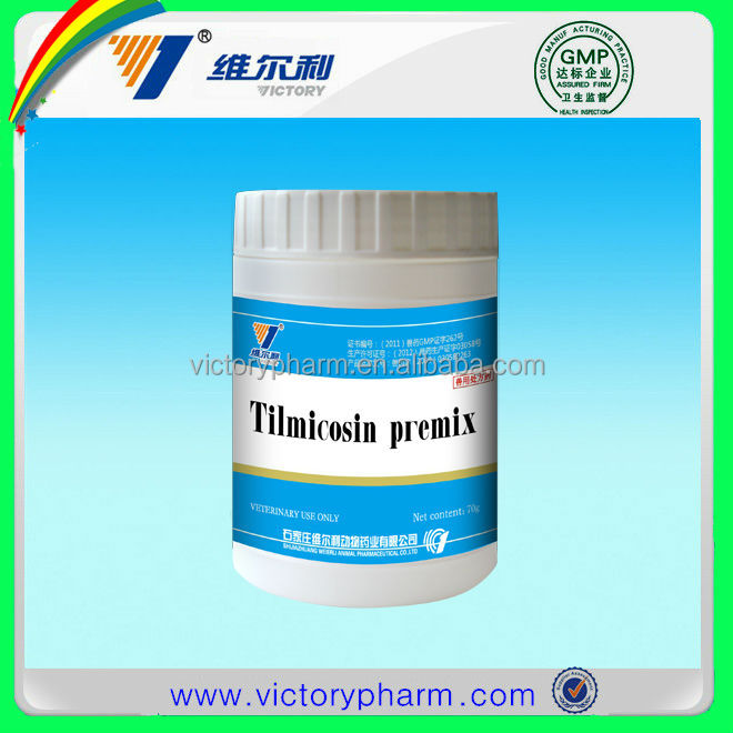Tilmicosin Premix powder for poultry,cattle,sheep,pigeon