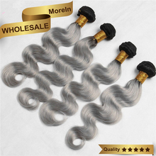 Gunagzhou Morein hair silver darling body wave thick hair extension