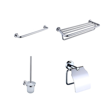 Low MOQ hotel chromed Polished toilet Eco friendly wall hung mount shower 4 pcs hardware <strong>plate</strong> accessory set