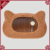 Adorable cat shape weaving rattan ventilated pet dog bed cage cat houses