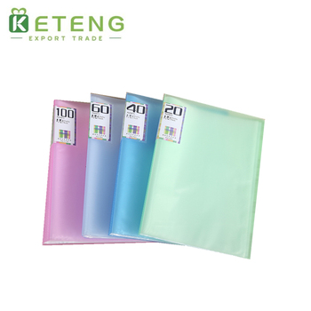 2017 new custom transparent executive file folder with flap