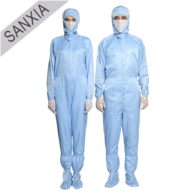 Blue ESD Safety Protective Working Clothing Bunny Suit for Electronics Factory