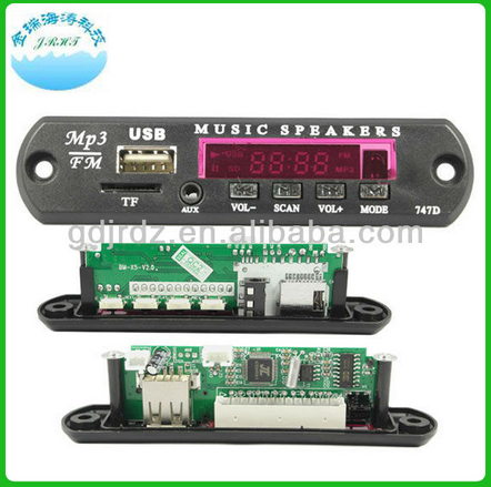 Hot selling BM-X6-TF usb drive mp3 instructions car mp3 player fm transmitter usb decoder module