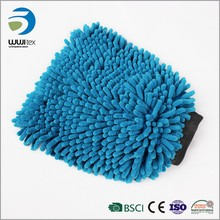 Promotion Wholesale quick dry car wash brand name cleaning gloves