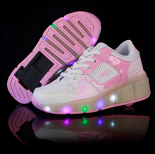 Junior Girls/Boys LED Lighting Heely shoes, Children Skate kids Sneakers With Single Wheels 27-40
