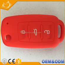 Flip Key Fob 3button remote key casing with cutout design Silicone Cover for VOLKSWAGEN Jetta