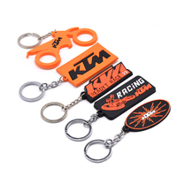 Custom charms Rubber key ring chain 3d soft pvc keychain for promotion