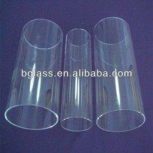 large diameter clear high borosilicate glass tube used in laboratory and chemical plants