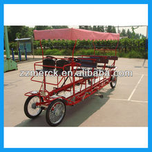 four wheel 6 person caravan surrey bike with basket