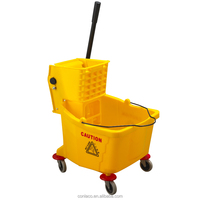 M-36 33 liters with wheels metal axes cleaning mop bucket wringer