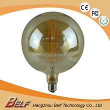 LED filament bulb/light, 360 degrees, glass cover, filament lamp, 3W G180 E40/E27 2200,2400K