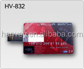 slim credit card USB memory sticks with full color printing, webkey