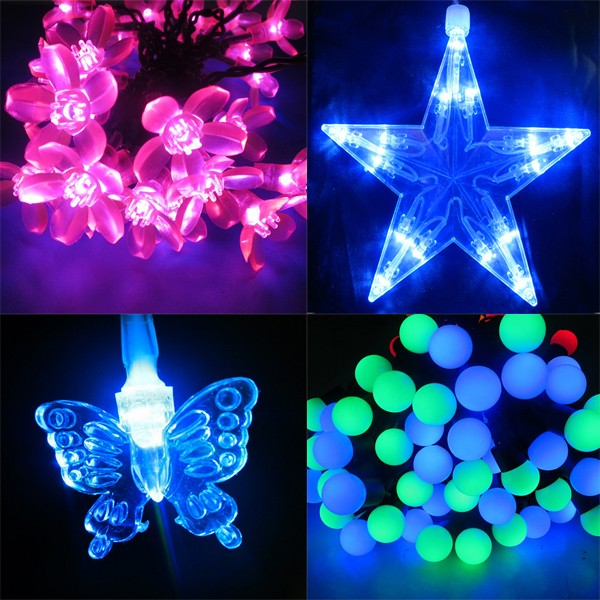 holiday time color changing led christmas lights resin ornaments