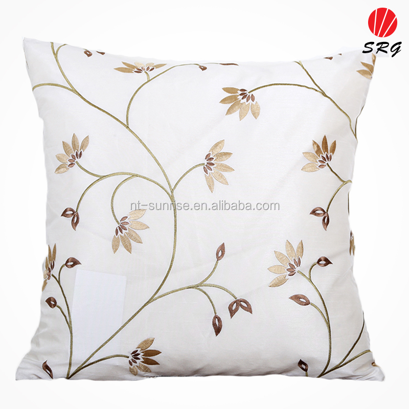 flower embroidered hot cushion cover