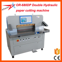 OR-680DP Double hydraulic industrial guillotine paper cutter