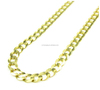 Low Price 10k Yellow Gold Stainless Steel Cuban Chain 22-36 Inch 3.8mm