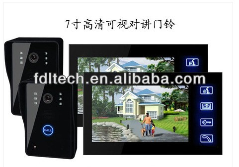 Newest Function of recording automatically 7''inch video door bell hot sale