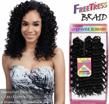 Best Selling Premium 3X Box Braid Crochet Hair easy install freetress hair deep wave twist braiding hair