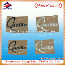 Personalized design metal logo embossing metal label,electroformed 3D metallic sticker with your own logo