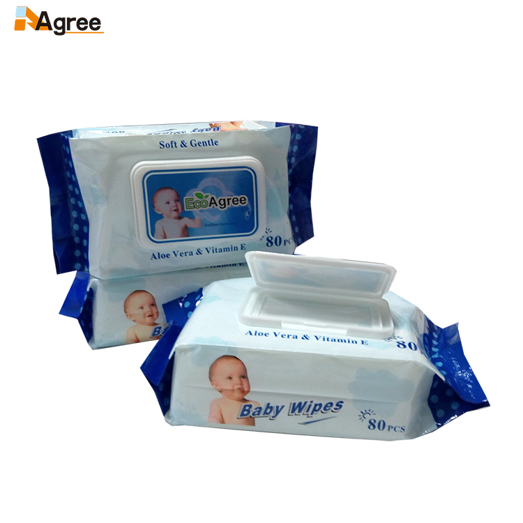 Wholesale Oem Disposable Soft Spunlace No-Woven Baby Wipes from China factory