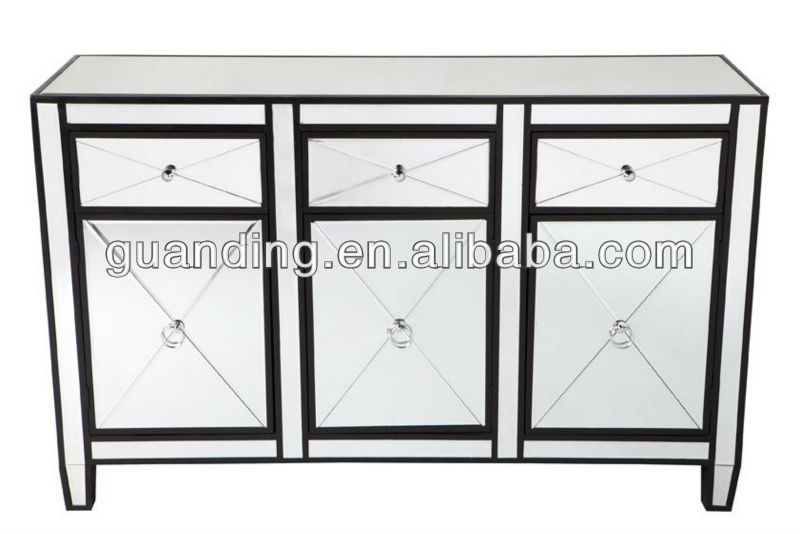Living Room Furniture mirrored Side cupboard