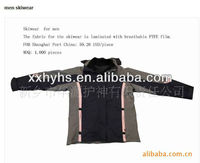 breathable ptfe laminated warmth men ski suits