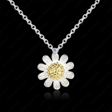 Fashion flower necklace 925 sterling silver and pendant designs wedding necklaces
