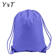 Polyester waterproof drawstring bag foldable backpack