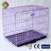 Dog kennel lock a large folding fashion wire pet cage