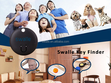 Waterproof Oval Anti-Lost Finder Whistle Inductor LED Light Positioning Tracker Smart Tracker Key Finder Safely Security