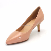 Classic Nude color Pointed Toe Office Shoes High-end Dress Shoes