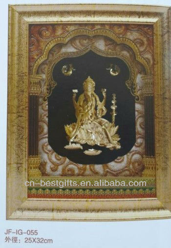 3D gold foil india god picture