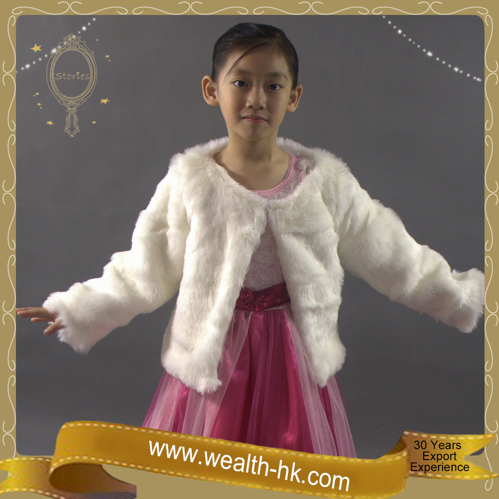 Pretty Fashion Winter kids girls Fur Shrug Cape