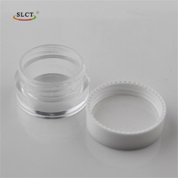 Clear PS Plastic skin care round cosmetic container 5g small luxury cream jar
